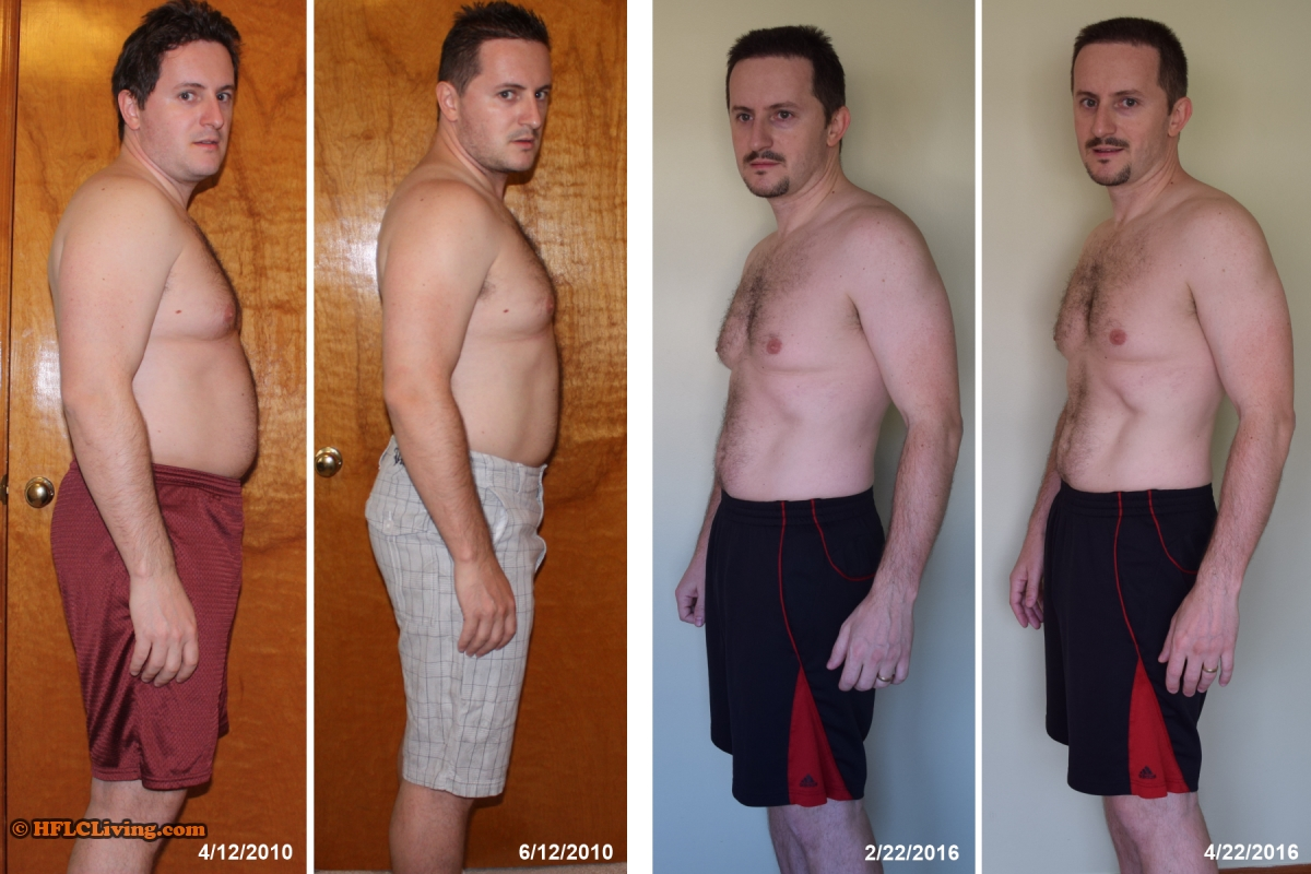 Rob - before and after high fat low carb - side